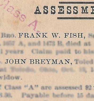 Image of assessment for Frank W. Fish and John Breyman