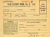 sample ration book cover