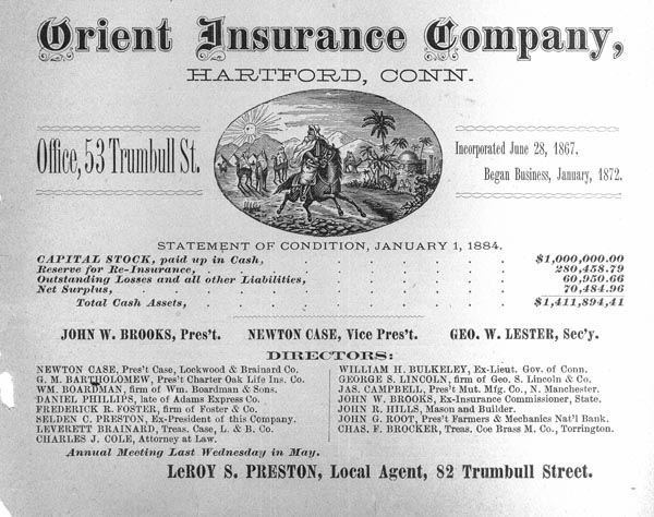 Advertisement for Orient Insurance Company