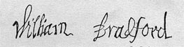 Image of William Bradford signature