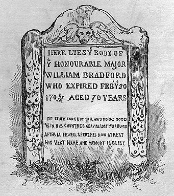 Image of William Bradford tombstone