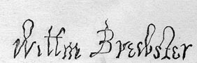 Image of William Brewster signature