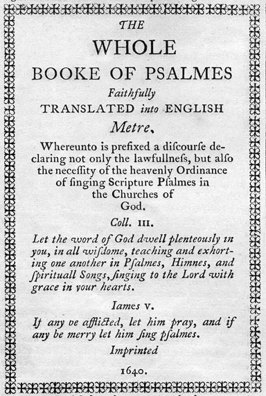 Image of Bay Psalm Book cover