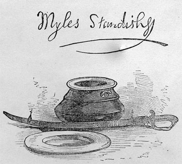 Image of Myles Standish signature and possessions