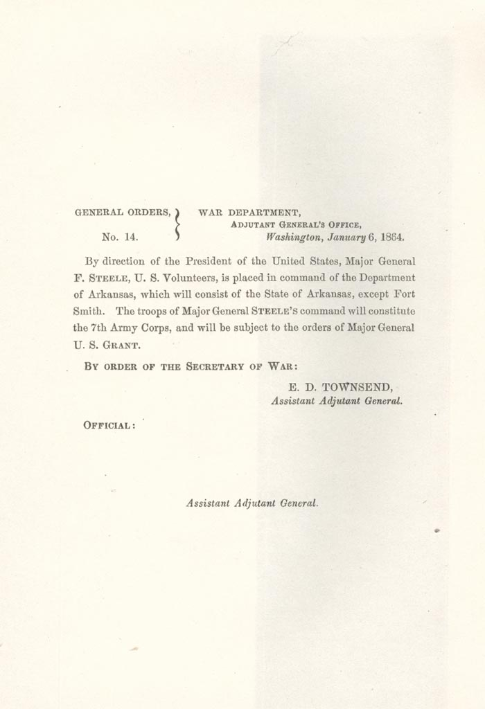 Image of 1864 General Orders No. 14