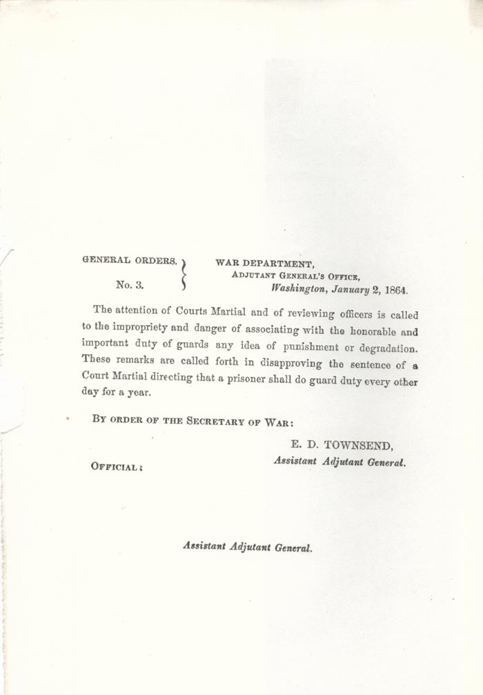 Image of 1864 General Orders No. 3