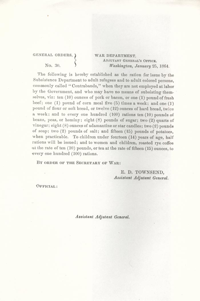 Image of 1864 General Orders No. 30