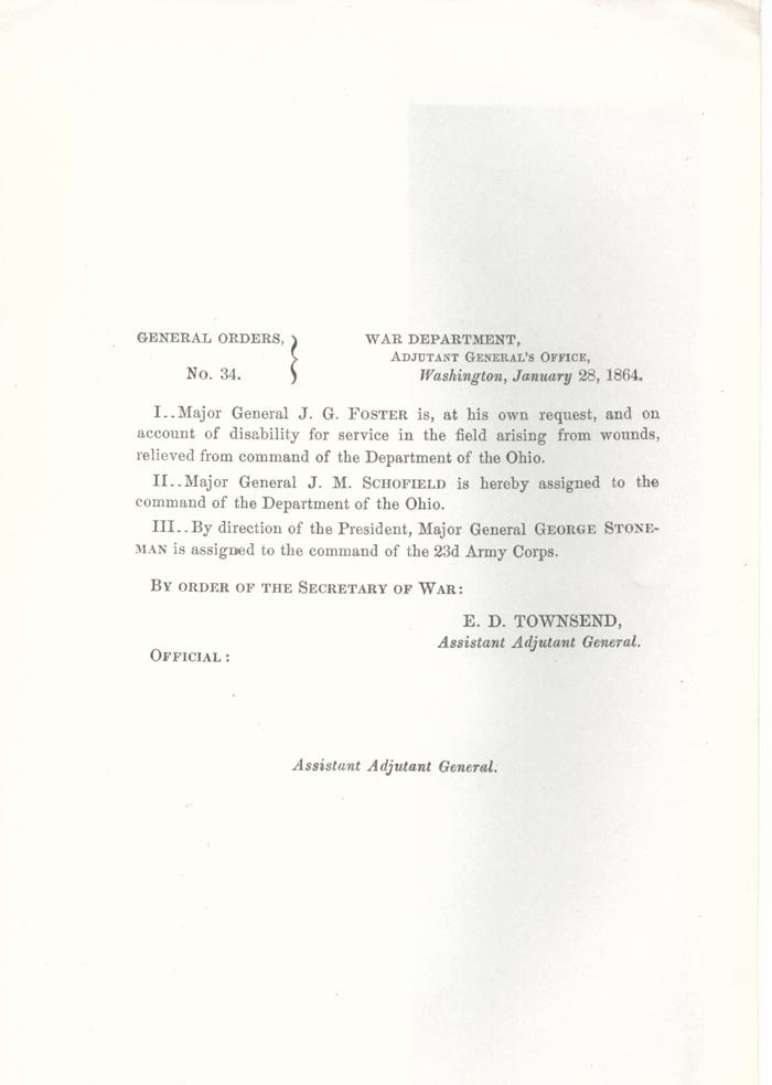 Image of 1864 General Orders No. 34
