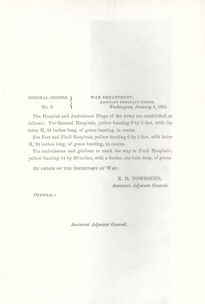 Image of 1864 General Orders No. 9