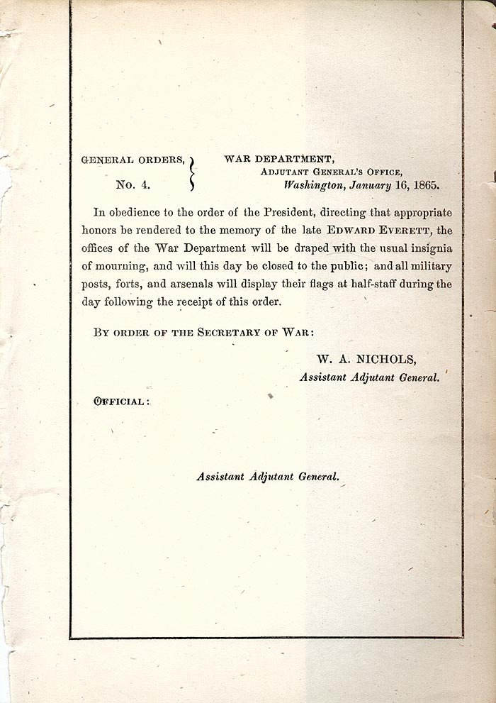 Image of 1865 General Orders No. 4