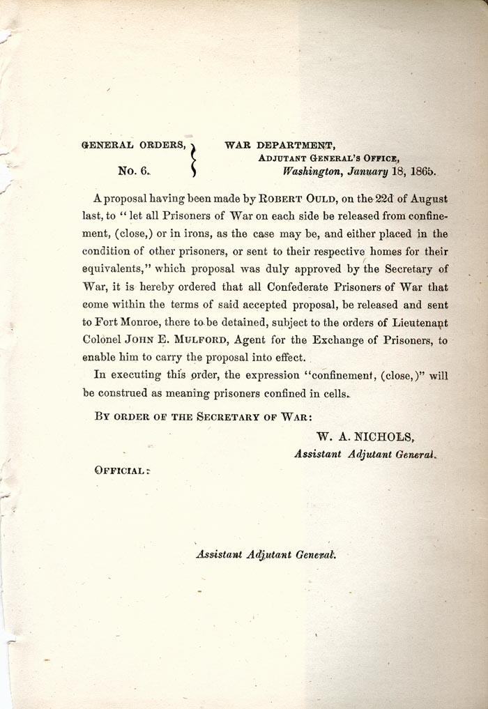 Image of 1865 General Orders No. 6