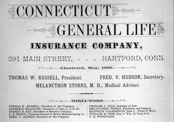 Advertisement for the Connecticut General Life Insurance Company