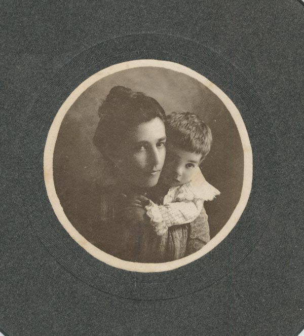 Photograph of Mrs. George Mathys and Emmons