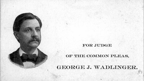 Image of Card with photo of George Wadlinger