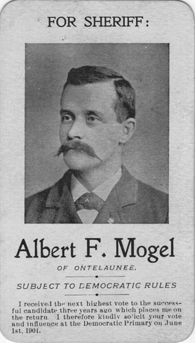 Image of Card with photo of Albert Mogel