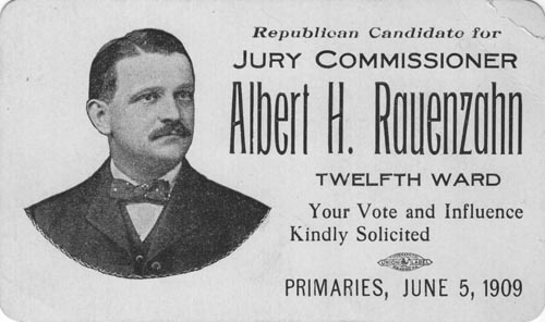Image of Card with photo of Albert Rauenzahn