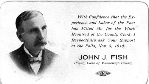 Image of Card with photo of John Fish