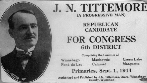Image of Card with photo of J. N. Tittemore