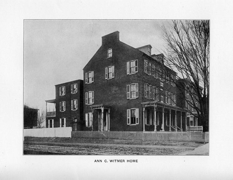 Image of the Ann C. Witmer Home for Widows and Maiden Ladies of the City of Lancaster