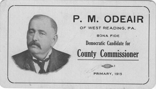 Image of Card with photo of P. M. Odeair