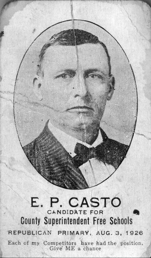 Image of Card with photo of E. P. Casto