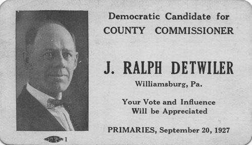 Image of Card with photo of Ralph Detwiler