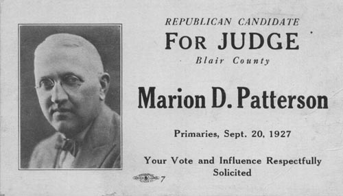 Image of Card with photo of Marion Patterson