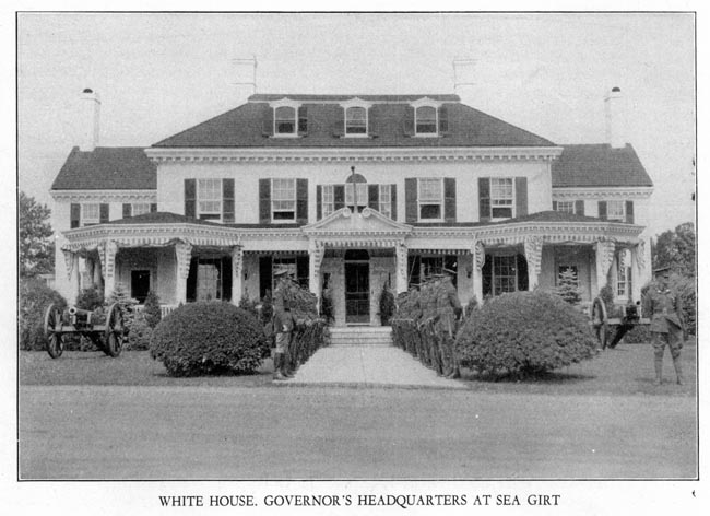 Image of White House. Governor's Headquarters at Sea Girt