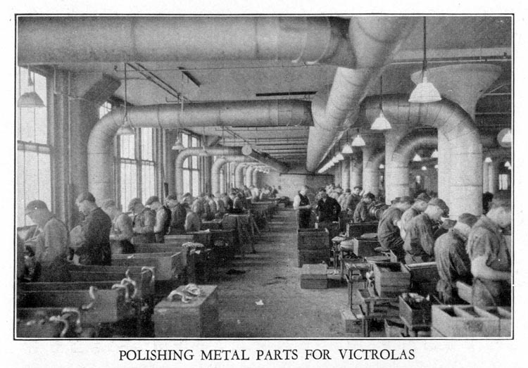 Polishing Metal Parts for Victrolas