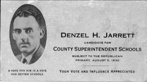 Image of Card with photo of Denzel Jarrett