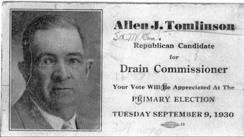 Image of Card with photo of Allen Tomlinson