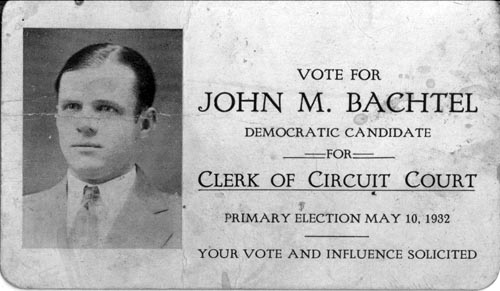 Image of Card with photo of John Bachtel