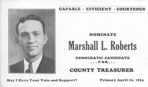 Image of Card with photo of Marshall Roberts