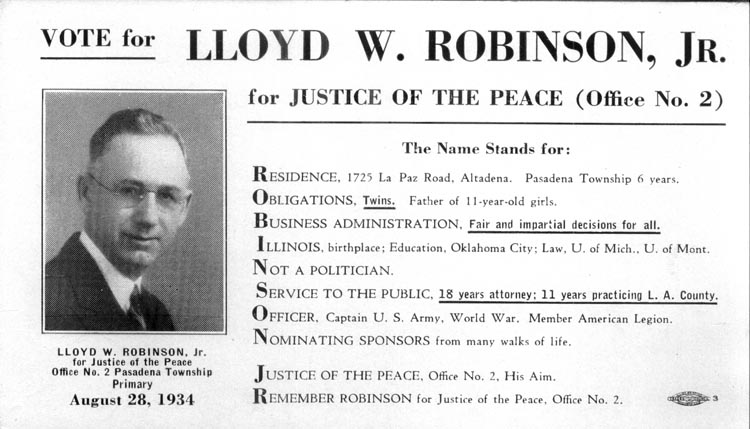 Image of Card with photo of Lloyd Robinson