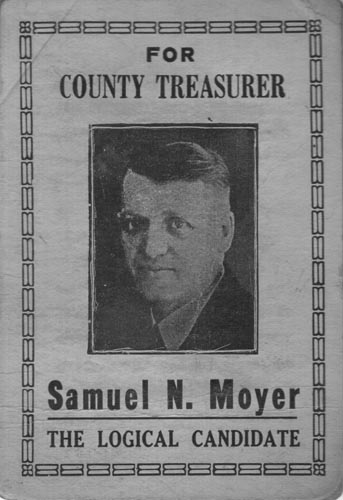 Image of Card with photo of Samuel Moyer