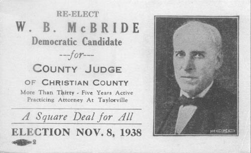 Image of Card with photo of W. B. McBride