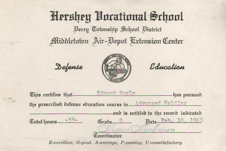 Image of 1943 Certificate