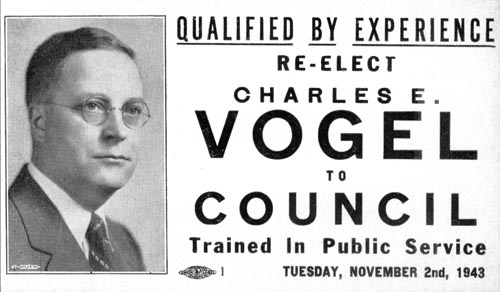 Image of Card with photo of Charles Vogel
