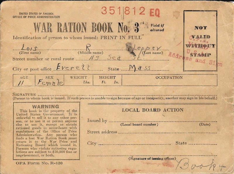 Image of Ration Book
