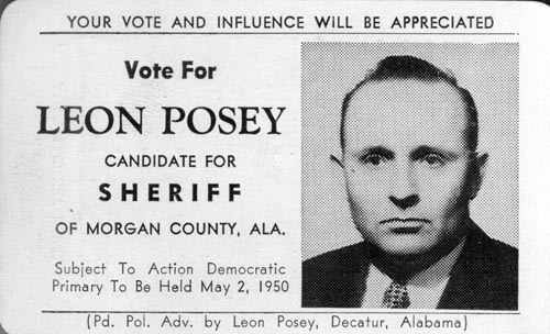 Image of Card with photo of Leon Posey