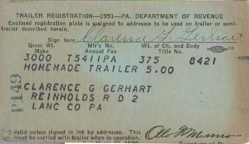 Image of 1951 Registration