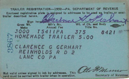 Image of 1952 Registration