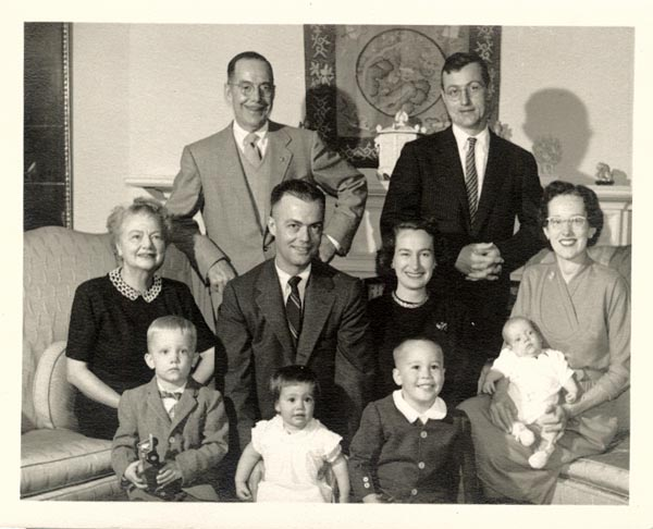 Photograph of Joe and Wallace Shelby and family