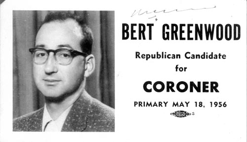 Image of Card with photo of Bert Greenwood