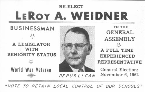 Image of Card with photo of LeRoy Weidner