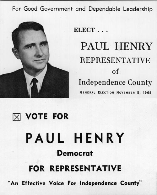 Image of Card with photo of Paul Henry