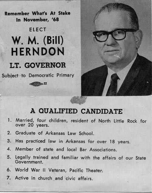 Image of Card with photo of Bill Herndon