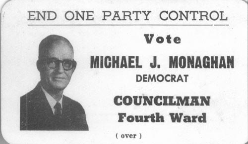 Image of Card with photo of Michael Monaghan