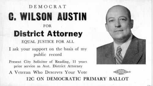 Image of Card with photo of C. Wilson Austin