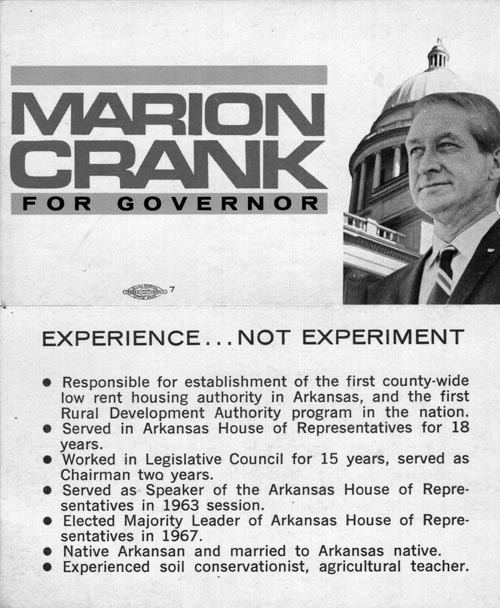 Image of Card with photo of Marion Crank